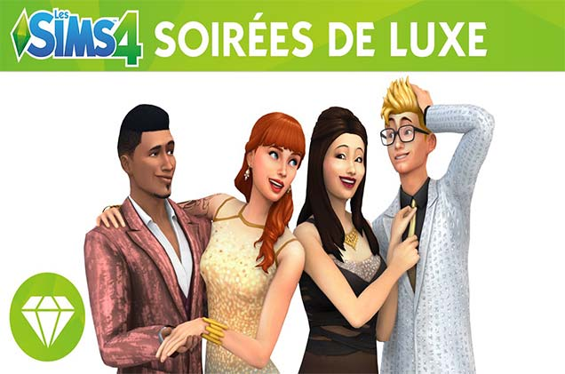 les sims 4 soirees de luxe telecharger dlc pc 2015. Black Bedroom Furniture Sets. Home Design Ideas