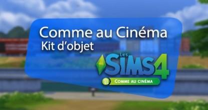 Les Sims 4 Comme au Cinéma Téléchargement Kit d'Objets PC